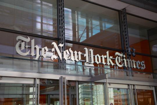 New York Times verstärkt ihr TV- und Filmproduktion