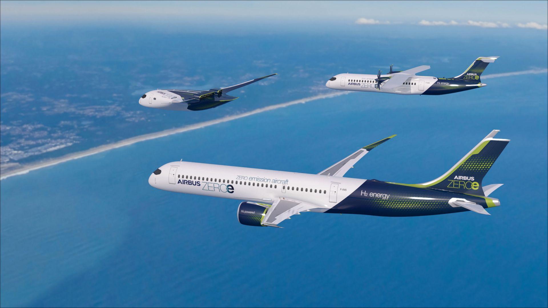 Airbus plant Wasserstoff betriebenes Flugzeug bis 2035